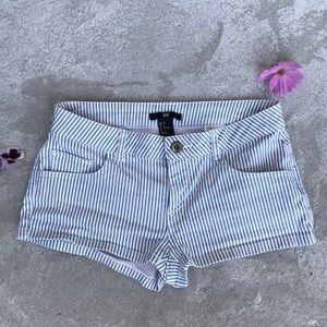 H&M Stripe Short Shorts Small Size 2